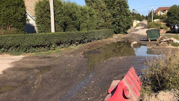 И никому до нас дела нет: улицу в центре Волгограда пять дней заливает питьевой водой