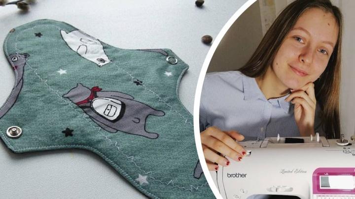 Интересно даже мужчинам: студентка из Архангельска шьет многоразовые прокладки из любви к экологии