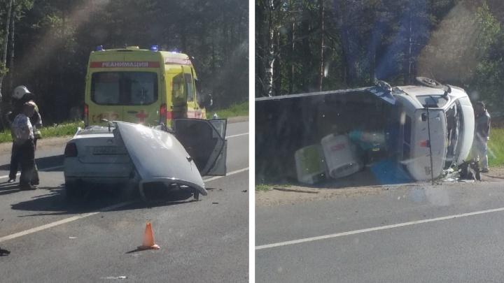 В Ярославской области столкнулись такси и «Газель»: есть пострадавшие