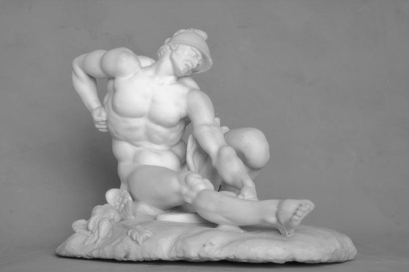 М. И. Козловский. Филоктет. 1789. Мрамор. 30 x 41,5 x 28,5 см. © Литературно-художественный музей-усадьба «Приютино»