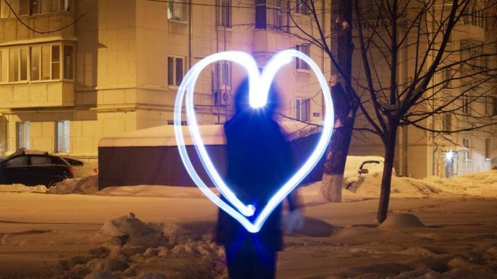 Сердца, фонарики, хештеги: как в Нижнем Новгороде прошел флешмоб в поддержку Навального