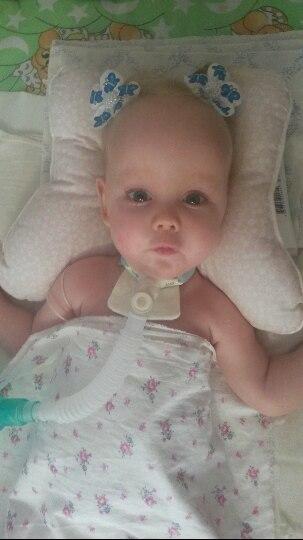 Диагноз малышке поставили в восемь месяцев