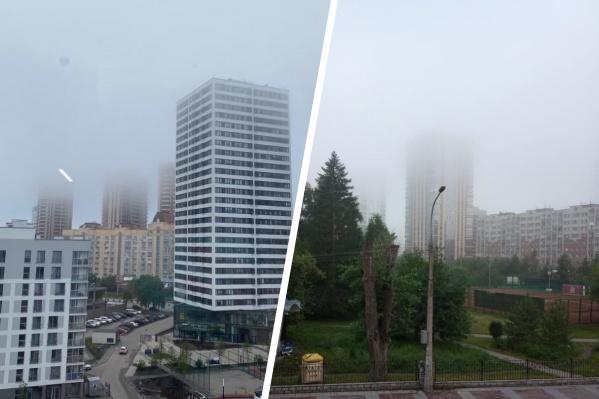 Новосибирск вновь окутал густой туман