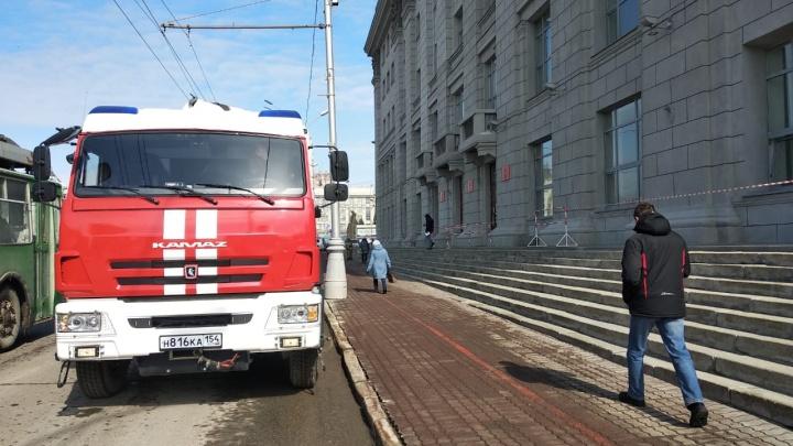 Из мэрии Новосибирска эвакуировали людей