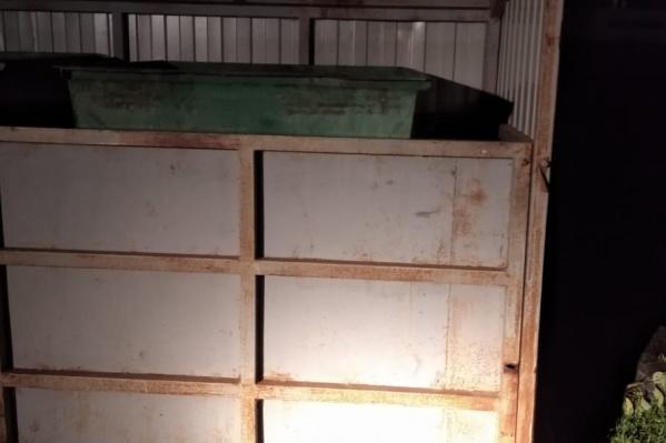 На девочку упала стенка контейнерной площадки