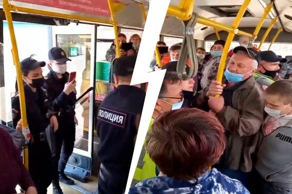 Пассажиры встали на защиту «нарушителя»