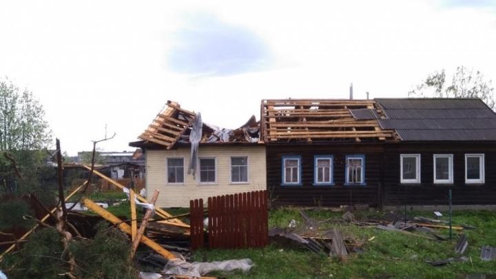 «Введен режим чрезвычайной ситуации»: устраняют последствия урагана, который разнес дома