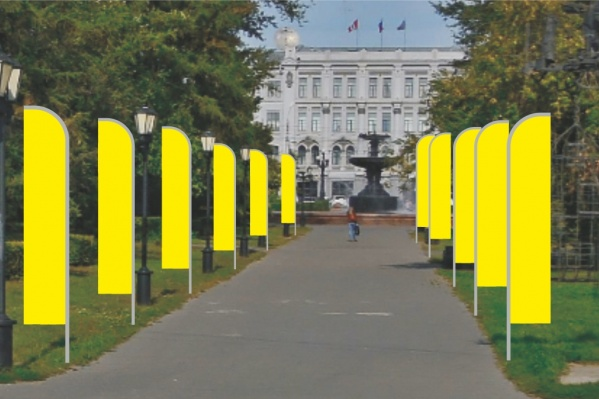 Пока известны только места, где появятся флаги и панно