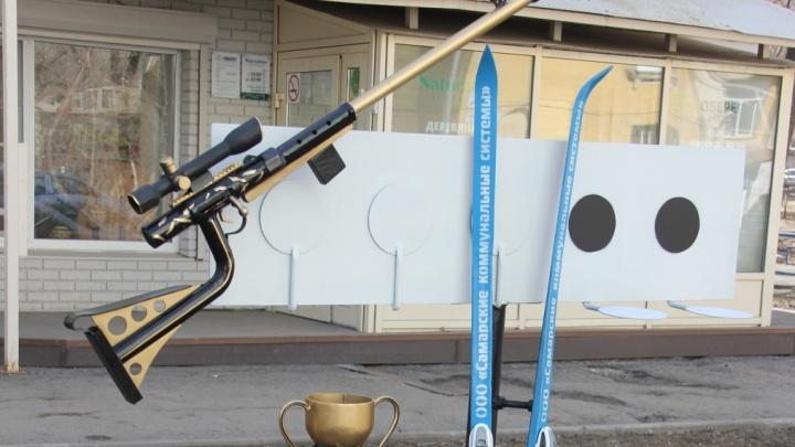 В Самаре вандалы украли арт-объект, посвященный биатлону