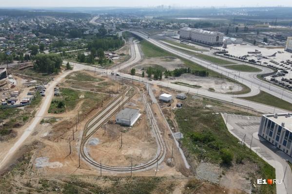 Вид на будущее трамвайное кольцо в Верхней Пышме