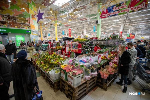 Цветы продаются с первых дней марта