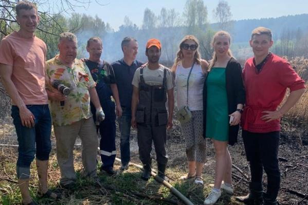 Местным жителям и сотрудникам «Парка Сказов» удалось потушить пожар