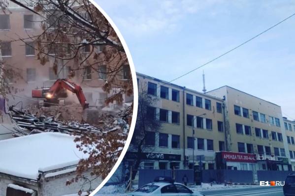 """Сносить памятник истории начали <nobr class=""""_"""">4 января</nobr>"""