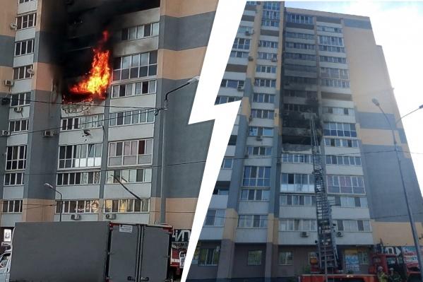 Огонь и копоть повредили несколько квартир, а одна выгорела полностью