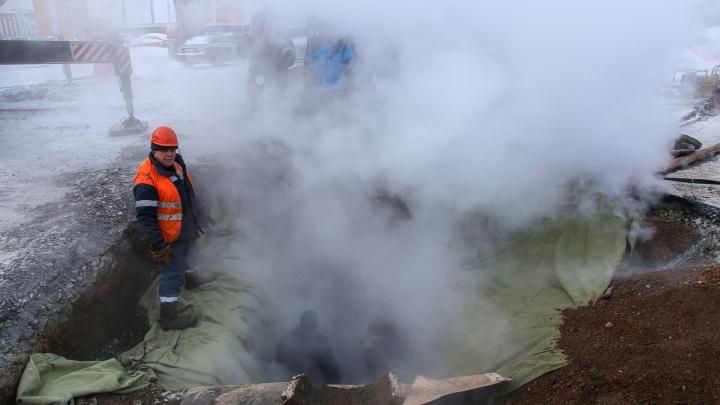 В Уфе прорыв на трубопроводе, который оставил без тепла 32 дома, проверит прокуратура