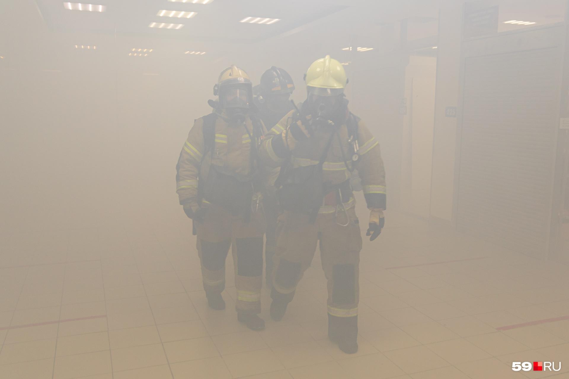 В здании всё было в дыму
