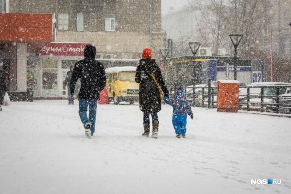 Неделя обещает быть пасмурной и снежной