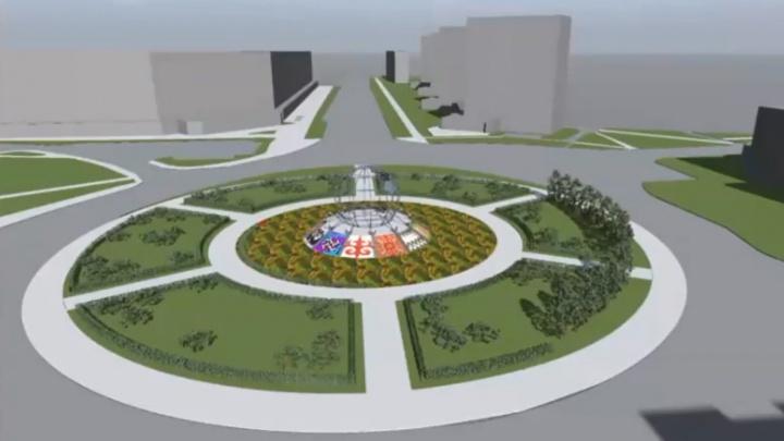 В Архангельске показали эскиз благоустройства площади Дружбы Народов. Смотрим, что там хотят сделать