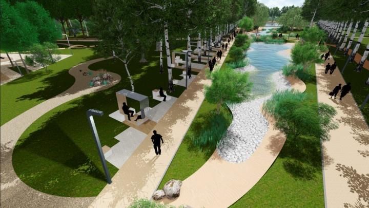 Парк на Ясной, который называют «собачьим», сделают комфортнее для людей. Публикуем эскизы
