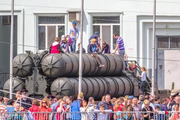 Для горожан выставят 14 образцов военной техники