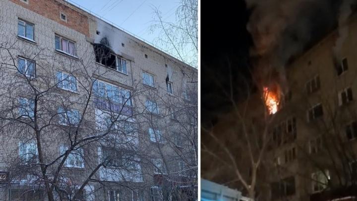 Во время пожара на 10 лет Октября девушка выпала из окна и погибла