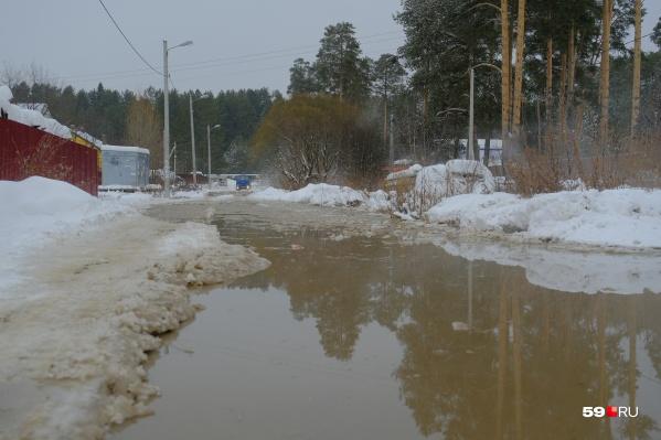 Так сегодня утром выглядел частный сектор в Кировском районе
