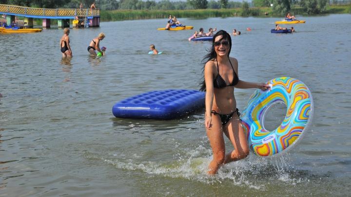 В Омской области официально открыли первый пляж