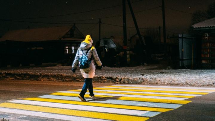 В Омске установят еще два проекционных перехода — и тоже на окраине города