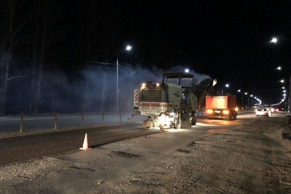 Юго-западную окружную дорогу будут ремонтировать по ночам