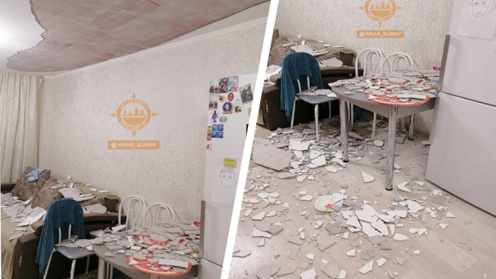 «Дети сильно испугались, побежали прятаться»: в новостройке Солнечного на семью рухнул потолок