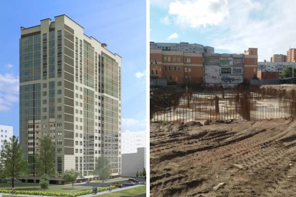 На месте снесенного здания-долгостроя на улице Батова в Ярославле построят 19-этажный дом
