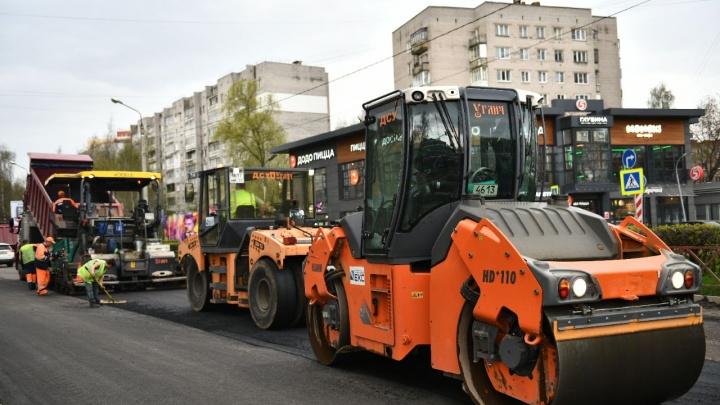 Отстают от графика: в Ярославле затянулся ремонт проспекта Машиностроителей