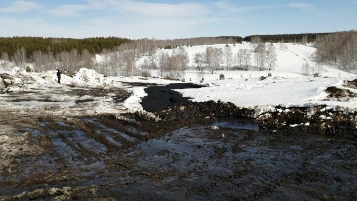 Последствия аварии в Башкирии, из-за которой образовалась нефтяная река, будут устранять несколько дней