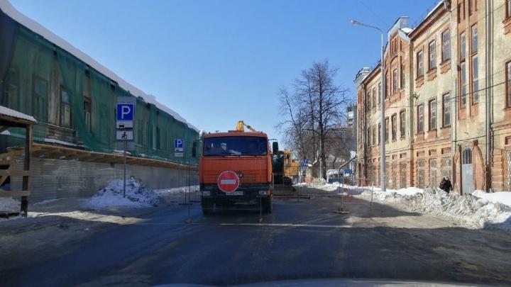 В Перми из-за аварии на сетях перекрыли улицу Пермскую