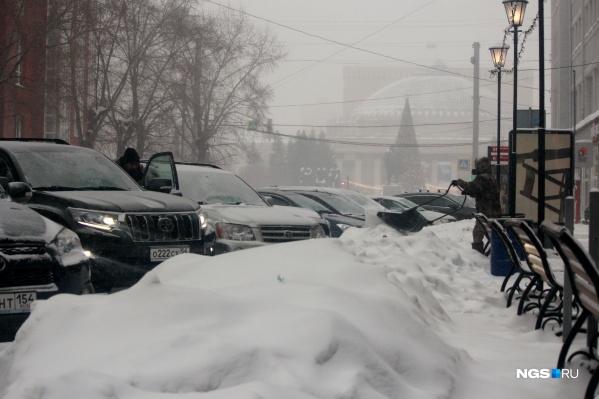 Сугробы на улице Ленина