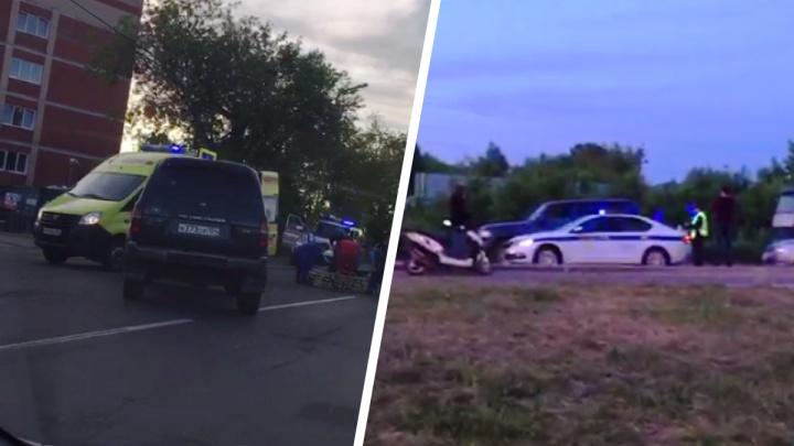 На Кубовой водитель «Ленд-Крузера» врезался в мопед — пострадал подросток