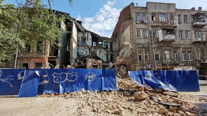 В центре Ростова разрушился доходный дом XIX века, ждавший сноса более 10 лет