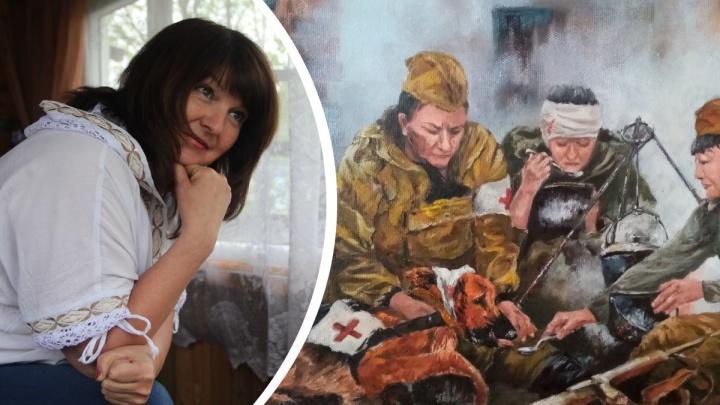 Рисунок северянки в память о фронтовых собаках станет коллекционной открыткой «Музея Победы»