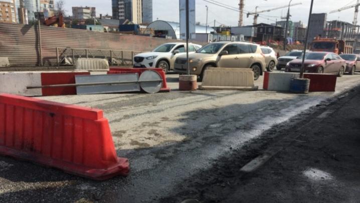 Улицу Попова у Коммунального моста с 12 июня перекроют на нечетной стороне. Схема объезда
