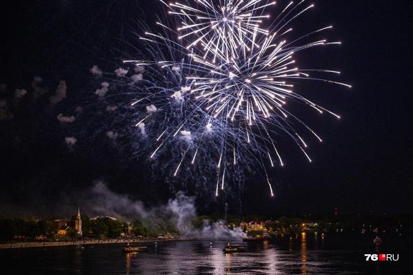 В этом году в Ярославле будет низовой и высотный фейерверк