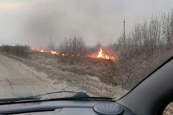 Огонь бушует почти во всех районах области