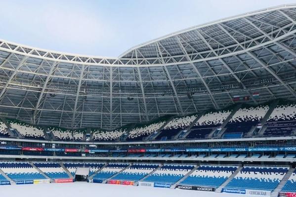 Сейчас не сезон, и игры на стадионе не проводят