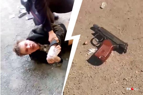 Стрелявший мужчина вел себя неадекватно, при нём также был нож