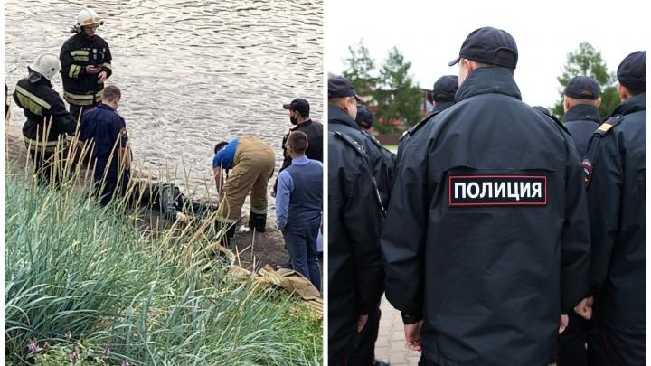 Из реки в центре Екатеринбурга вытащили труп: видео