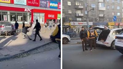 «*** ты снимаешь?»: сотрудника НГС избил участник аварии на площади Калинина