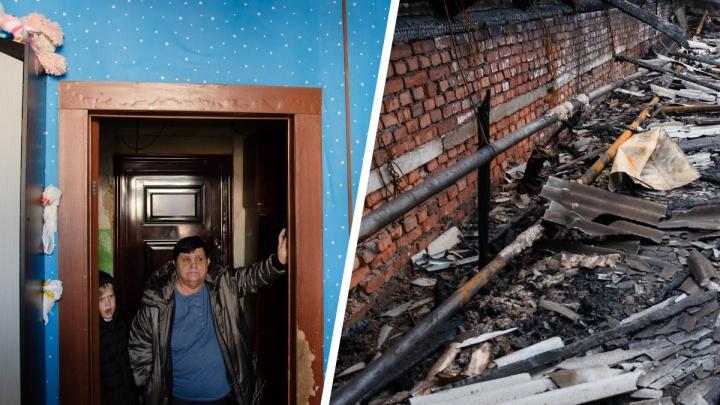 «Всё делаем своими силами»: как живут люди в общежитии в Архангельске, где месяц назад сгорела крыша