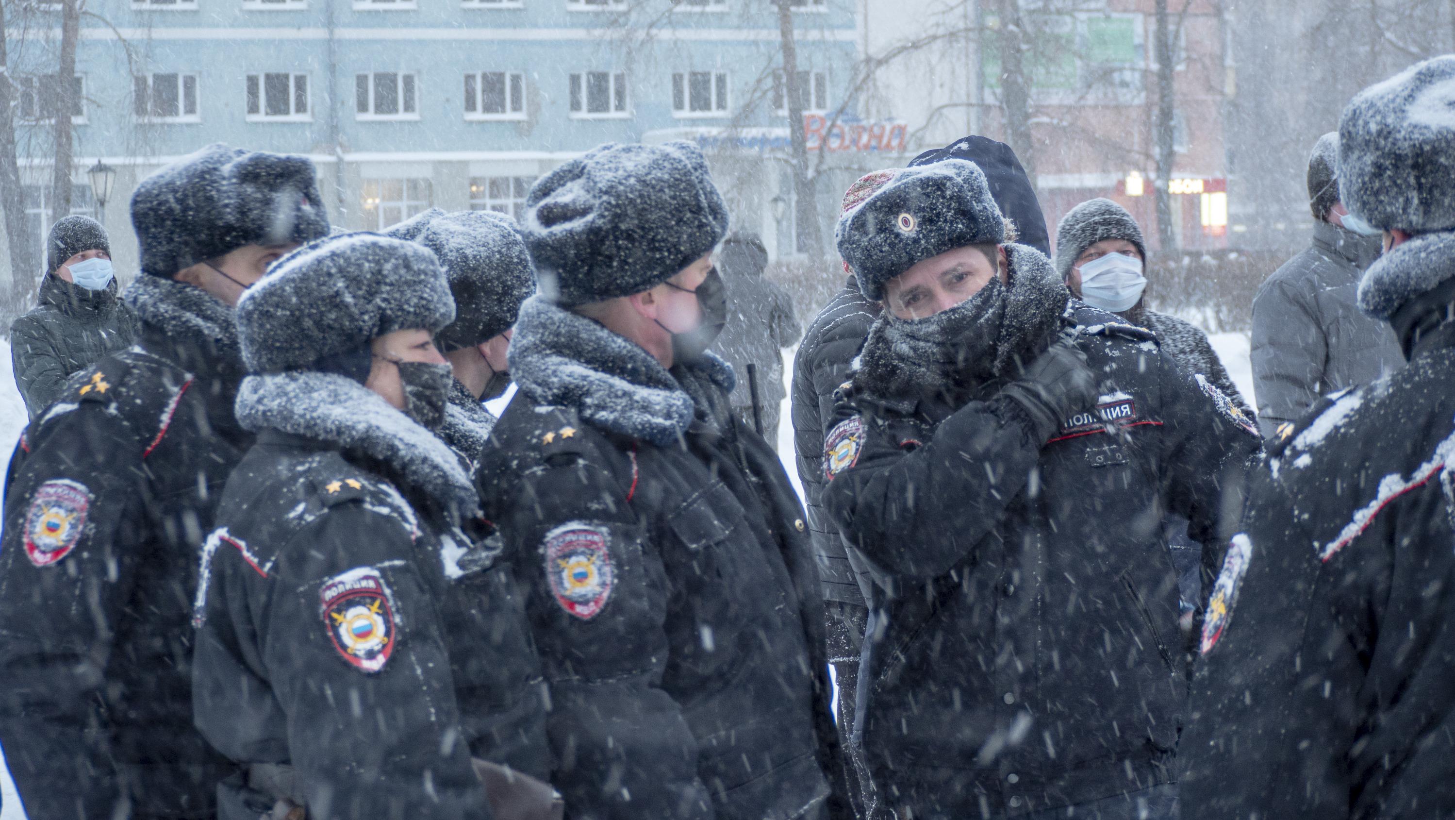 Полиции на акции было немало