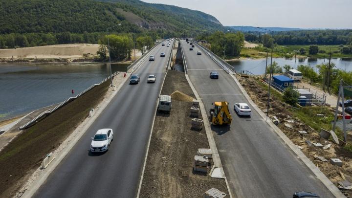В Самаре открыли движение по двум мостам через реку Сок