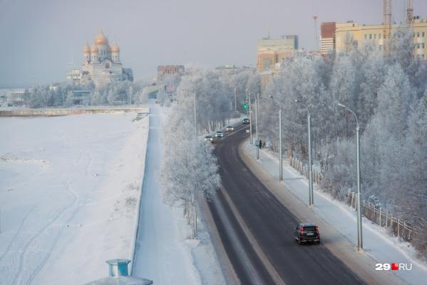 В первый рабочий день в Поморье будет морозно