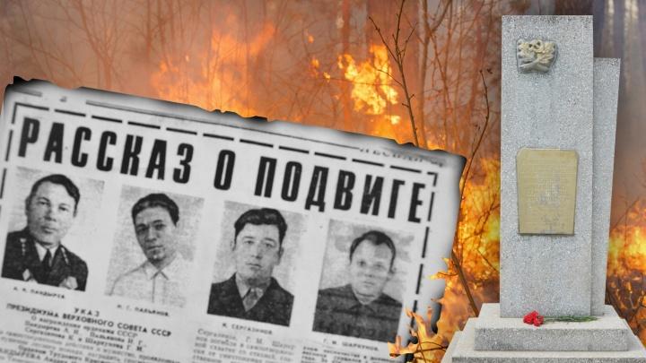 Под Тюменью четверо лесников сгорели при тушении пожара. Вспоминаем трагедию 1975 года
